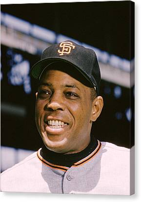 Gold Glove Canvas Print - Say Hey Willie Mays by Retro Images Archive