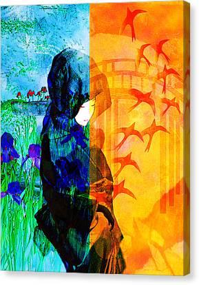 Saying Goodbye Canvas Print by Bruce Manaka