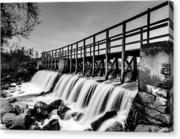 Saylseville Mill Pond Canvas Print by Randy Scherkenbach