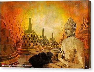 Sborobudur Temple Compounds Canvas Print
