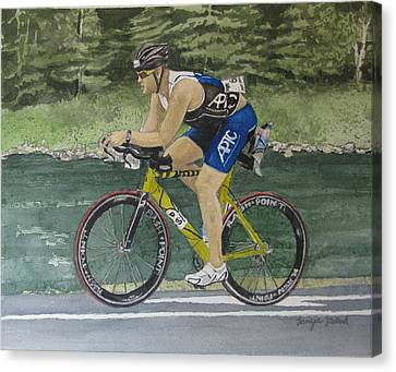 S.c. Cycling In Ironman Tremblant Canvas Print by Tanya Petruk