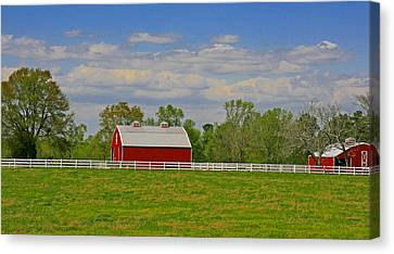 Canvas Print featuring the photograph Sc Horse Farm by Andy Lawless