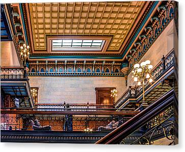 Canvas Print featuring the photograph Sc State House by Rob Sellers