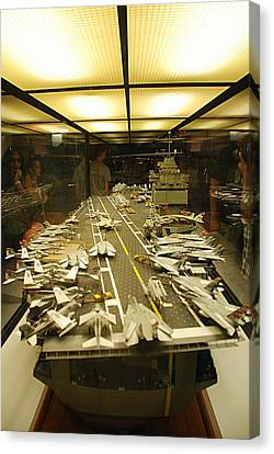 Scale Model Aircraft Carrier Canvas Print