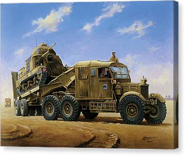 Scammell Pioneer 1942. Canvas Print by Mike  Jeffries