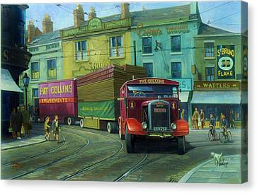 Scammell Showtrac Canvas Print by Mike  Jeffries