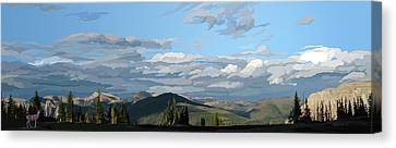 Scapegoat Panorama Canvas Print