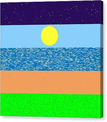 Scapes.1 Canvas Print by Gareth Lewis
