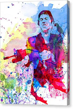 Scarface Canvas Print - Scar Watercolor by Naxart Studio