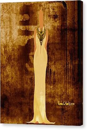Scarab Sista Goddess Canvas Print