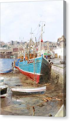 Scarborough Harbour Canvas Print by Ron Harpham