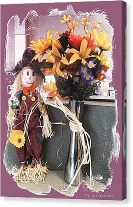 Scarecrow And Company Canvas Print by Patricia Keller