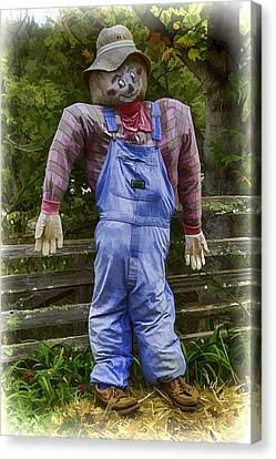 Scarecrow Canvas Print by John Haldane
