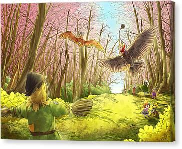 Scarecrow Practice Canvas Print