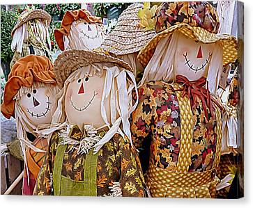 Scarecrows Canvas Print by Janice Drew
