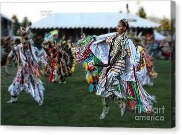 Scarf Fancy Dancer Canvas Print by Scarlett Images Photography