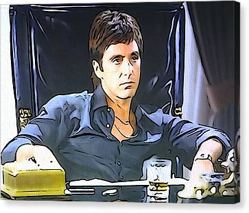 Scarface Canvas Print by Dan Sproul