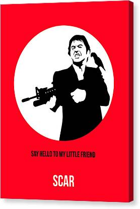 Scarface Poster 2 Canvas Print by Naxart Studio