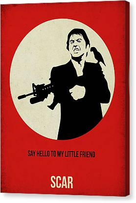 Scarface Poster Canvas Print by Naxart Studio