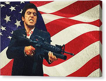 Scarface Canvas Print by Taylan Apukovska