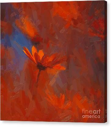 Scarlet Petals  Canvas Print