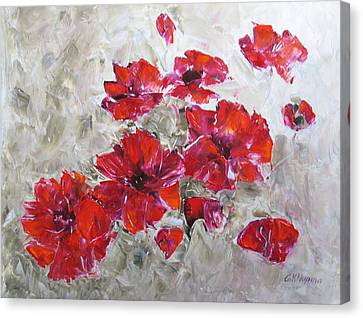 Scarlet Poppies Canvas Print