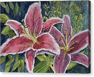 Scarlet Tiger Lilies  Canvas Print