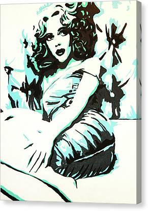 Scarlett Blues Canvas Print by Lorinda Fore