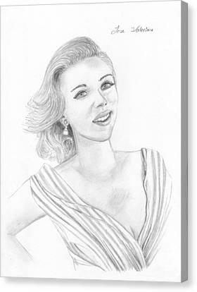 Scarlett Johansson Canvas Print by M Valeriano