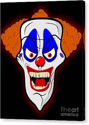 Scary Clown Canvas Print by Martin Capek