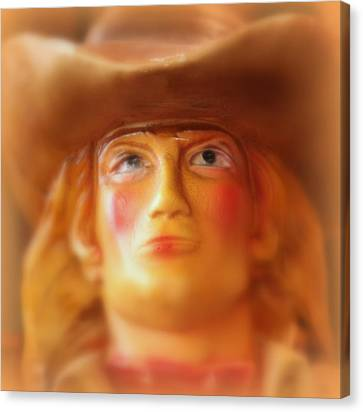 Canvas Print featuring the photograph Scary Cowgirl by Lynn Sprowl
