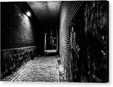 Scary Dark Alley Canvas Print by Louis Dallara
