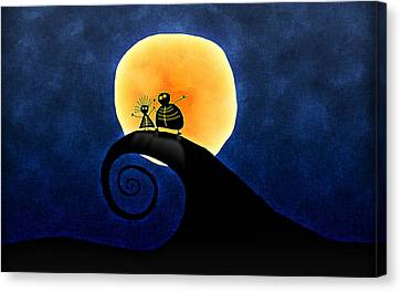 Scary Moonlight Canvas Print