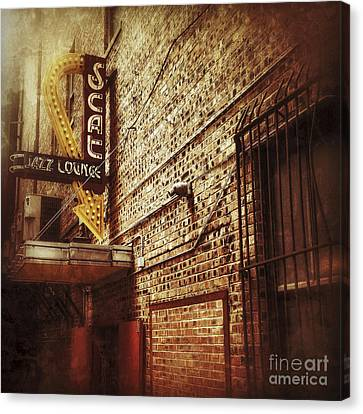 Scat Jazz Lounge Canvas Print by Elena Nosyreva