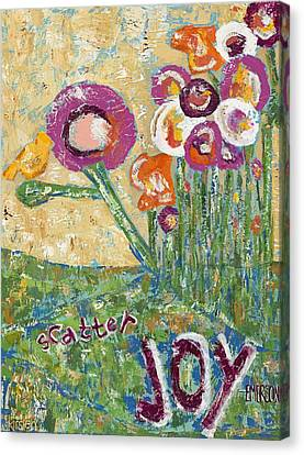 Scatter Joy Canvas Print by Kirsten Reed