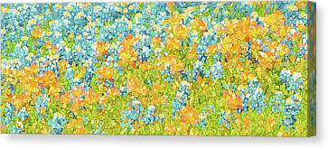 Scattered Impressions Bold Wildflowers  Canvas Print by ARTography by Pamela Smale Williams