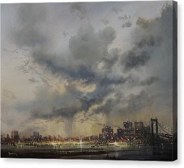 New York City Canvas Print - Scattered Showers New York City by Tom Shropshire
