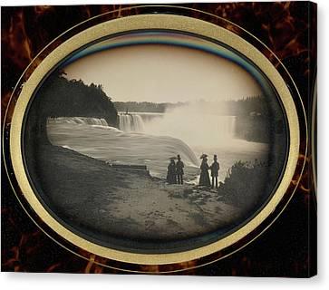 Scene At Niagara Falls Platt D. Babbitt Canvas Print by Litz Collection