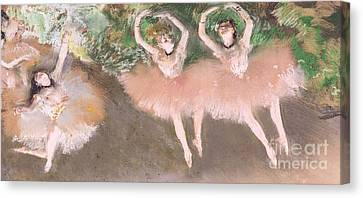 Scene De Ballet Canvas Print by Edgar Degas