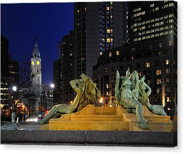 Scene From Logans Square. Canvas Print