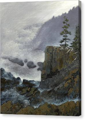 Scene From Quoddy Trail Canvas Print by Alison Barrett Kent