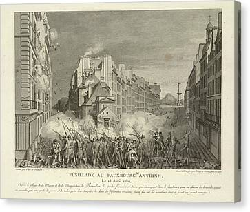 Scene From The French Revolution Canvas Print by British Library