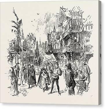 Scene From The New Opera La Basoche At The Royal English Canvas Print by English School