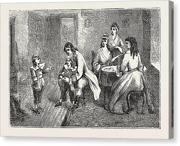 Scene From  The Vicar Of Wakefield, Engraving 1876, Uk Canvas Print