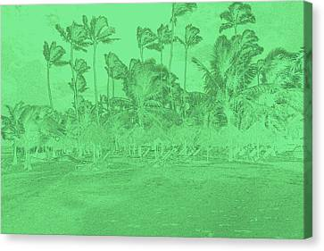 Scene In Green Canvas Print by Mustafa Abdullah