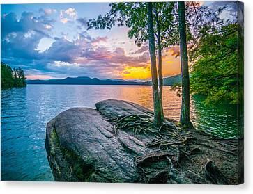 Scenery Around Lake Jocasse Gorge Canvas Print by Alex Grichenko
