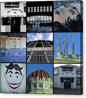 Scenes From Asbury Park New Jersey Collage Canvas Print by Terry DeLuco