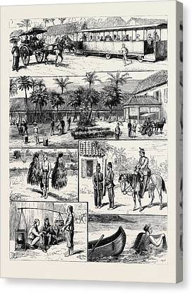 Scenes In Batavia Canvas Print by English School