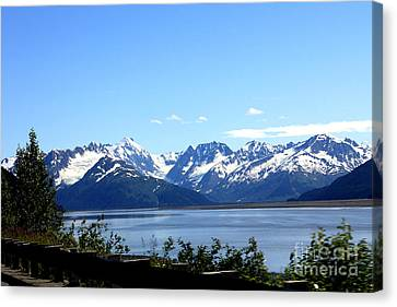 Canvas Print featuring the photograph Scenic Byway In Alaska by Kathy  White