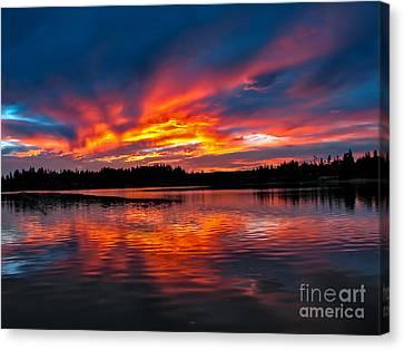 Scenic Marine Sunrise Canvas Print by Robert Bales